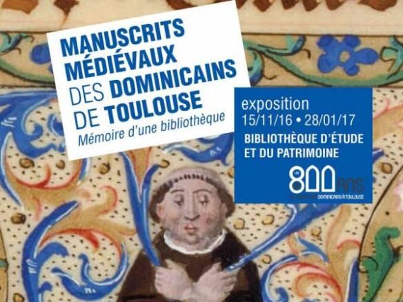 Affiche manuscrits médiévaux des dominicains de Toulouse