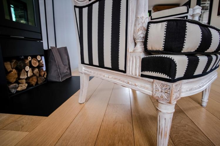 Fauteuil chaise bergère Louis XVI